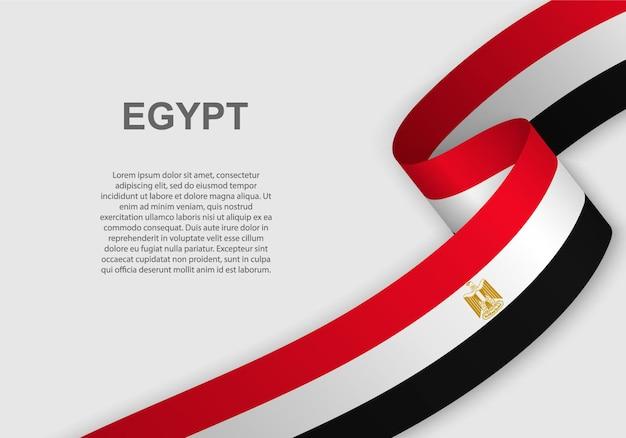 Wapperende vlag van egypte.