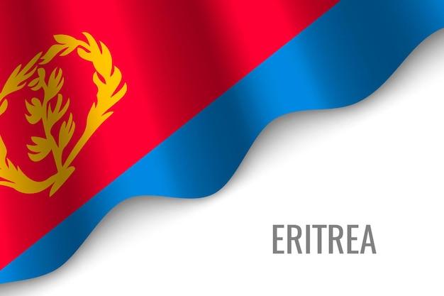Wapperende vlag van eritrea