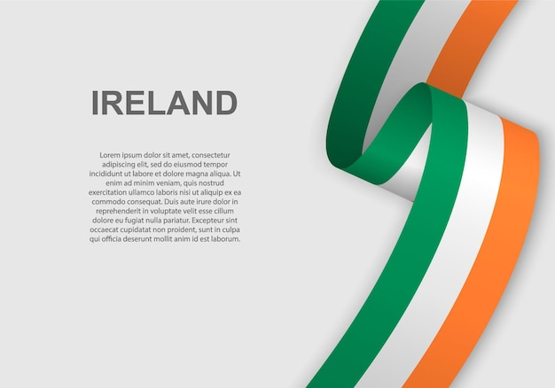 Wapperende vlag van ierland.
