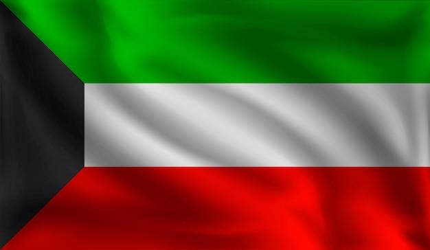 Wapperende vlag van koeweit, de vlag van koeweit