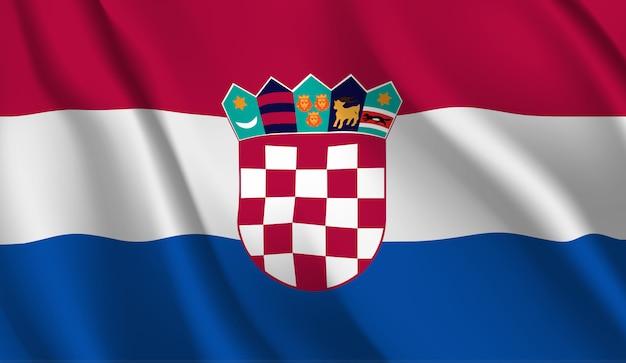 Wapperende vlag van kroatië. wapperende vlag van kroatië