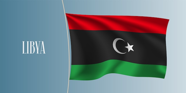 Wapperende vlag van libië
