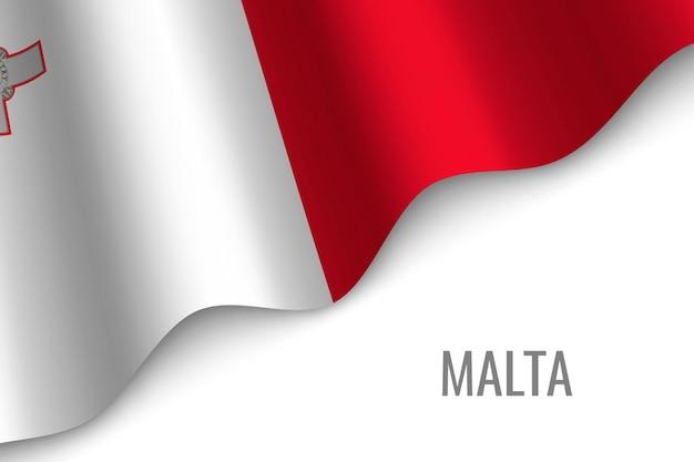 Wapperende vlag van malta