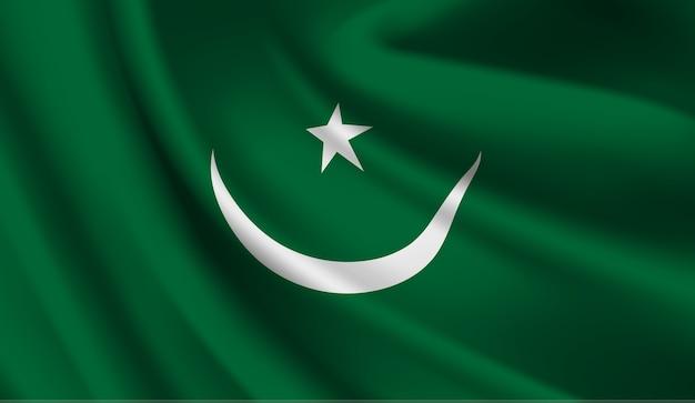 Wapperende vlag van mauritanië.