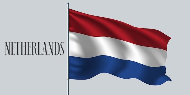 Wapperende vlag van nederland