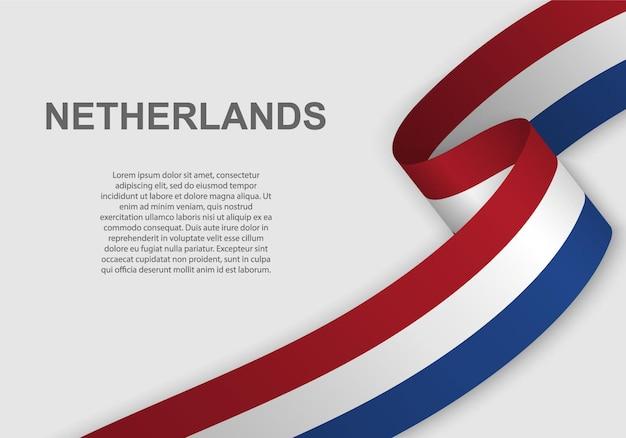 Wapperende vlag van nederland.
