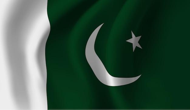 Wapperende vlag van pakistan. wapperende vlag van pakistan abstracte achtergrond