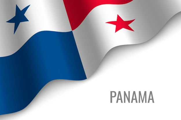 Wapperende vlag van panama.