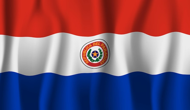 Wapperende vlag van paraguay. wapperende vlag van paraguay abstracte achtergrond