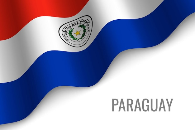 Wapperende vlag van paraguay