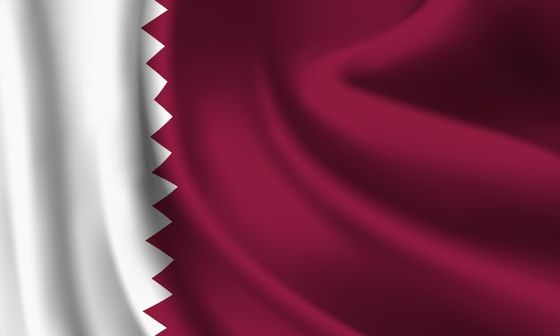 Wapperende vlag van qatar. wapperende vlag van qatar abstracte achtergrond