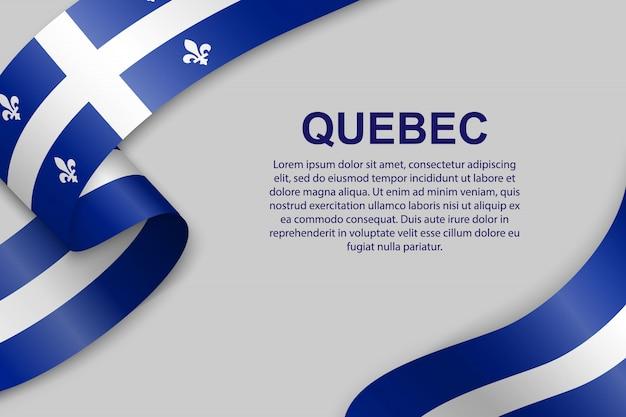 Wapperende vlag van quebec