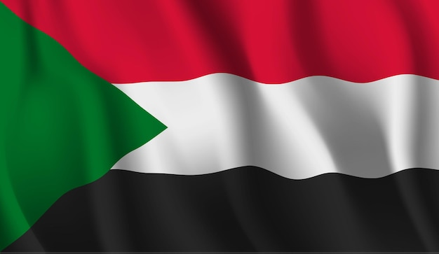 Wapperende vlag van soedan abstracte achtergrond