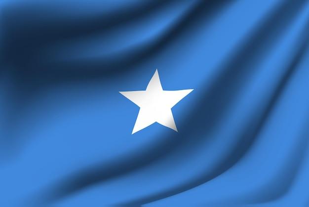 Wapperende vlag van somalië abstracte achtergrond