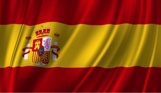 Wapperende vlag van spanje abstracte achtergrond