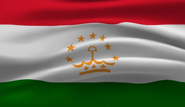 Wapperende vlag van tadzjikistan wapperende vlag van tadzjikistan abstracte achtergrond