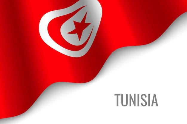 Wapperende vlag van tunesië