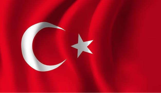 Wapperende vlag van turkije. wapperende vlag van turkije abstracte achtergrond