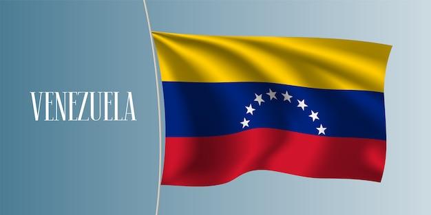 Wapperende vlag van venezuela