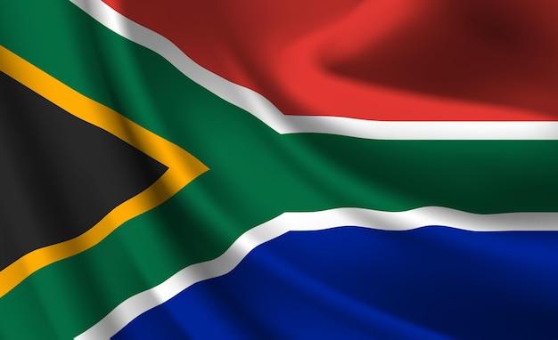 Wapperende vlag van zuid-afrika. wapperende vlag van zuid-afrika abstracte achtergrond