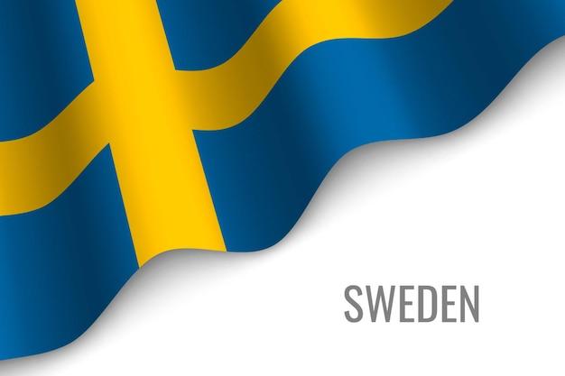 Wapperende vlag van zweden