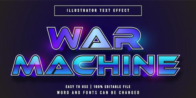 War machine, speltitel grafische stijl bewerkbaar teksteffect