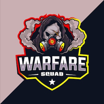 Warfare squad esport logo ontwerp