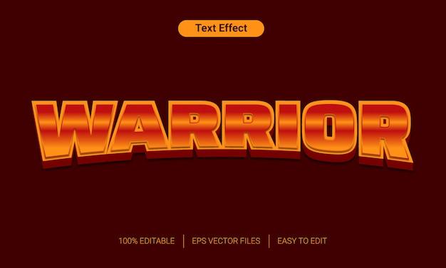 Warior oranje kleurovergang 3d-tekst stijl effect