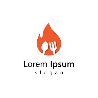 Warm eten logo afbeeldingen afbeelding ontwerp