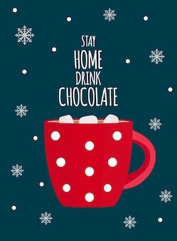 Warme chocolademelk mok illustratie