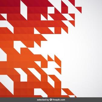 Warme tinten abstract geometrische achtergrond
