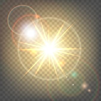 Warmtezon met schittering lens flare