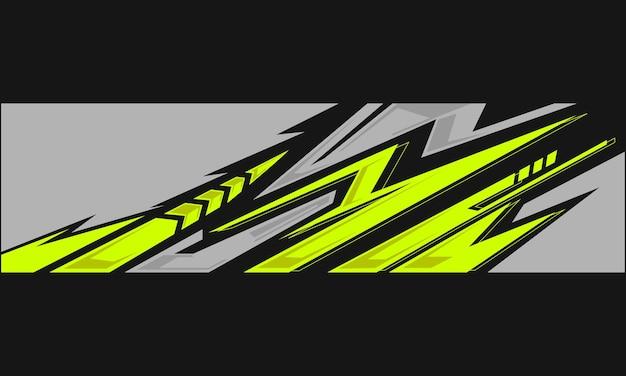 Warp auto sticker ontwerp