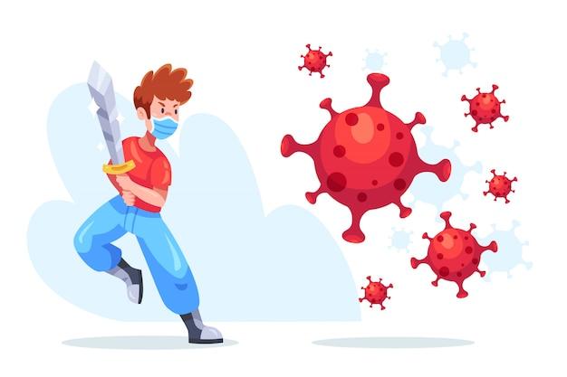 Warrior man vechten virus