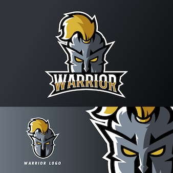 Warrior ridder sport of esport gaming mascotte logo sjabloon