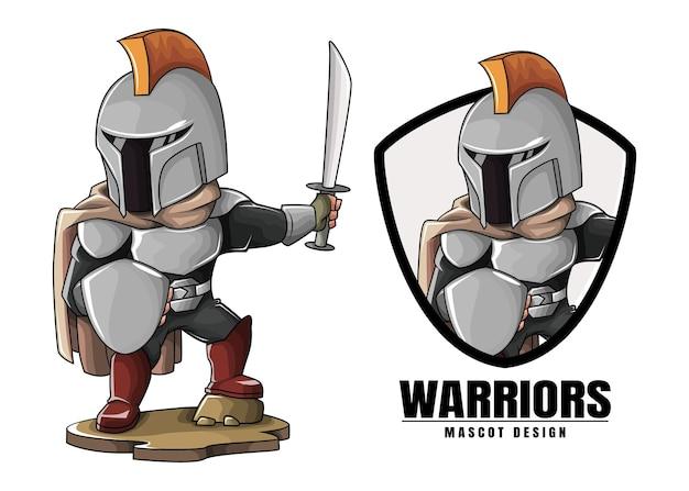 Warriors mascotte ontwerp