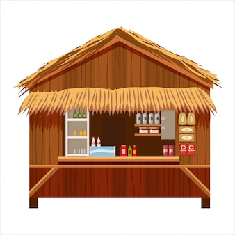 Warung street food cafe restaurant klein familiebedrijf, winkel winkel