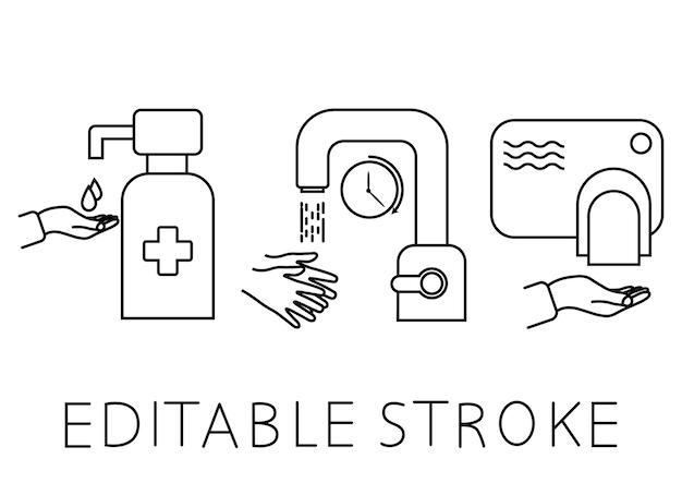 Was je handen gedurende 30 seconden onder stromend water gebruik handdesinfecterend middel en raak minder droger aan