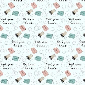 Was je handen patroon