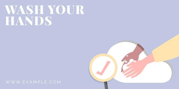 Was uw handen coronavirus bescherming sjabloon