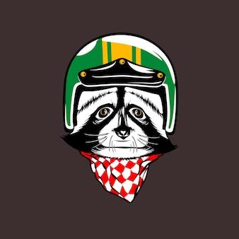 Wasbeer hoofd helm vector ontwerp