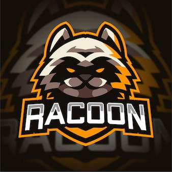 Wasbeer mascotte gaming-logo
