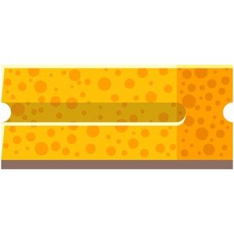 Wasborstel vector pictogram geïsoleerd op een witte achtergrond