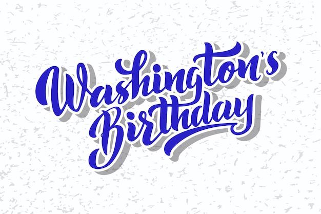 Washingtons verjaardag vector belettering van hand getrokken happy presidents day in de verenigde staten