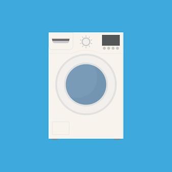 Wasmachine pictogram vlakke stijl