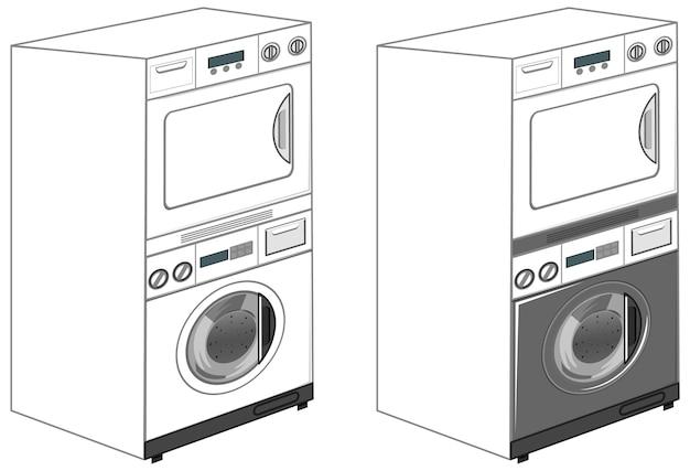 Wasmachines geïsoleerd