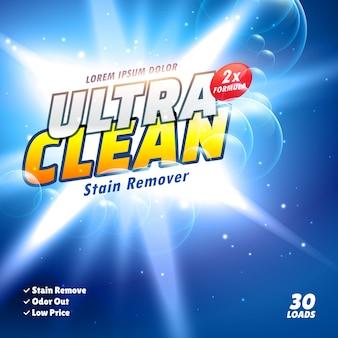 Wasmiddel en reinigingsproduct verpakkingsontwerp in vector