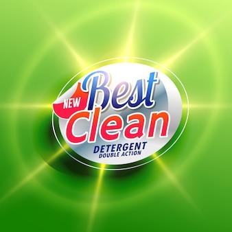 Wasmiddel schoonmaken creatief verpakking concept ontwerp in groene kleur