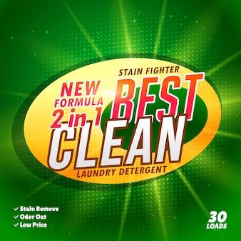 Wasmiddel zeep verpakking van een product concept creatief