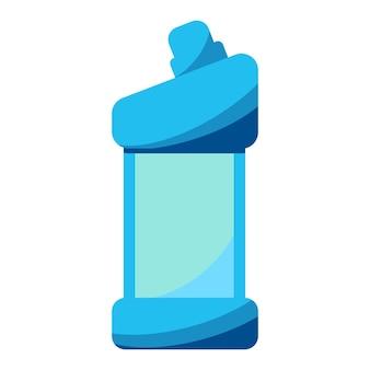 Wasmiddelfles of -container schoonmaakbenodigdheden waspoederpictogram huishoudelijke chemische fles